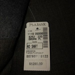 Jos. A Bank grey suit **NEW WITH TAGS*